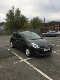 RENAULT CLIO 1.4 3DR BLACK 2007 MINT RUNNER LOW MILES