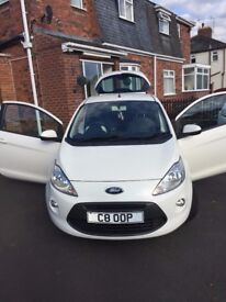 White Ford KA Zetec *ONE LADY OWNER FROM NEW* 2010 27000Miles - NUMBER PLATE NOT INCLUDED