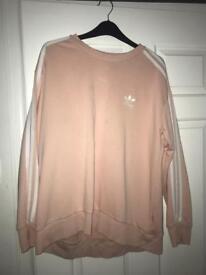 Adidas original peach ladies jumper size 12