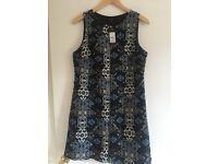 Ladies Aztec print shift dress.