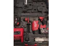 Milwaukee SDS 28 volt hammer drill