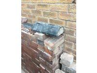 Blue brick copings