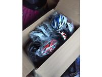 Helmets and shin pads job lot brand new