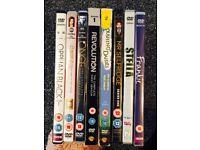8 TV series DVDs