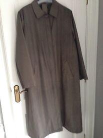 Dannimac Long WInter Coat with belt - size L