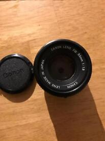 Canon FD 50mm 1.8 Camara lens.