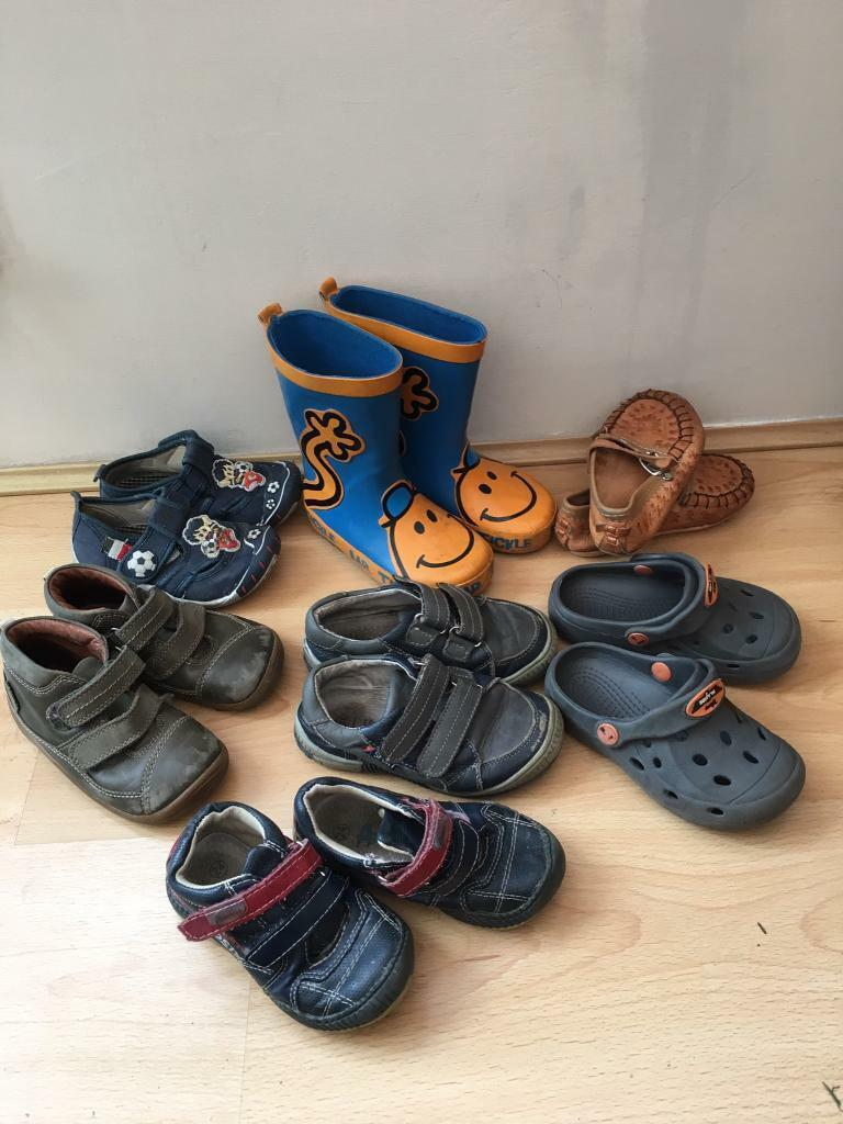 Kids, Boys shoes boots and wellies size 6-7