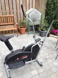 Confidence fitness 2in 1 bike and cross trainer