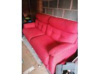 Red Orangy Sofa