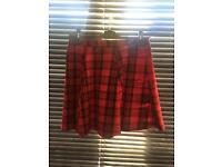 Womans red tartan skirt
