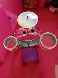 Childs drum set.