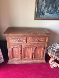 Solid maple buffet cabinet
