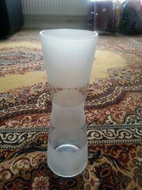 Elegant glass vase