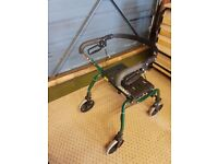 Mobility walker with seat