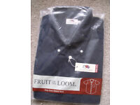Fruit of the Loom short sleeve XXL - BLACK - brand new - collar 18