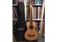 Vintage Viator acoustic travel guitar