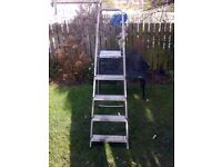 ALUMINIUM STEP LADDERS FOR SALE . COULD DELIVER.