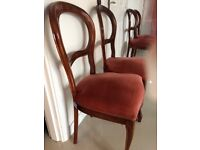 4 x balloon backed dining chairs