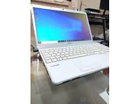 Sony VAIO BEAUTIFUL WHITE Laptop, BOXED, Intel, 300 GB, MS OFFICE, Great Battery, HARDLY USED