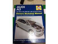 Audi A3 Owners Worckshop Manual £8