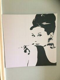 Audrey Hepburn IKEA Canvas