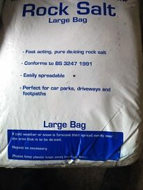 LARGE bag de-icing Rock Salt (Brown) Pre winter sale. 10 bags or more per order