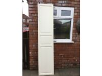 IKEA wooden wardrobe door. Off White. 50cm x 236cm. Fits tall pax wardrobe.Slight damage on corners.