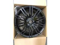 """BMW 19"""" SPIDER ALLOY WHEELS GLOSS BLACK STAGGERED BRAND NEW SET OR 4"""