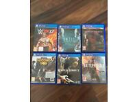 PS4 selection of games