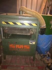 SMS super sander / drum sander / fine dust extractor / 3 phase