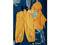 Rain outfit for 2-3 years old