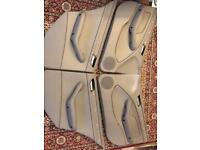 BMW 3 Series E46 Door Cards Grey 8224597 8224598 8224537 8224538 leather