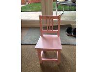 Baby girl wooden chair - Harper