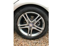 "Genuine Mercedes 18"" Alloys, Tyres & Bolts (Unmarked/Nearly New) - 2015 model but fits older shapes"
