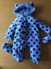 Boys snowsuit 0-3 months
