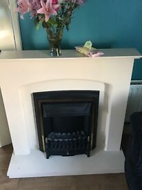 Electric fire place and mirror