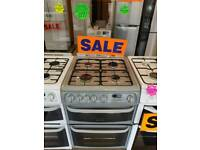 CANNON SILVER  60CM DOUBLE OVEN GAS COOKER