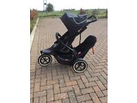Phil & Ted Sport Double Pushchair and extras