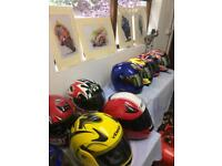 Selection of motorbike clothing and parts