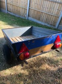 """Small Trailer (4' x 3' x 1') - With 14"""" High extension."""