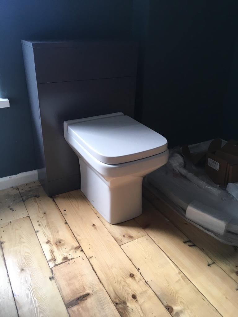 Gloss grey toilet, brand new RRP £720