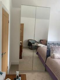 2 John Lewis & Partners Mixit Tall Double Wardrobe with Mirror Doors
