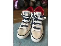 vintage blue and white converse