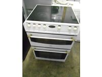 59cm belling Electric Cooker sepetate grill oven with Ceramic top in vgc .free local delivey