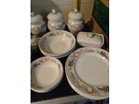 27 piece orchard tea set