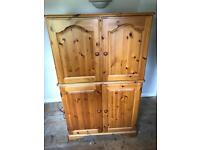 Pine Computer/tv cupboard (sensible offers considered)
