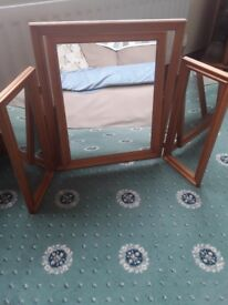 Pine frame mirror centre large mirror swivels