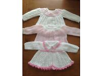 Beautiful Knitted Baby Girl Tops Age 0-3 Months