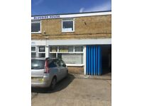 GATWICK; car/van hire office & forecourt, airport parking reception; 620sq.ft workshop