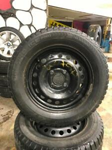 195 65R 15 CHAMPIRO ICE PRO WINTER SNOW TIRES & RIMS 4X114.3 BOLT PATTERN WORKS ON NISSAN TOYOTA HYUNDAI HONDA & MORE